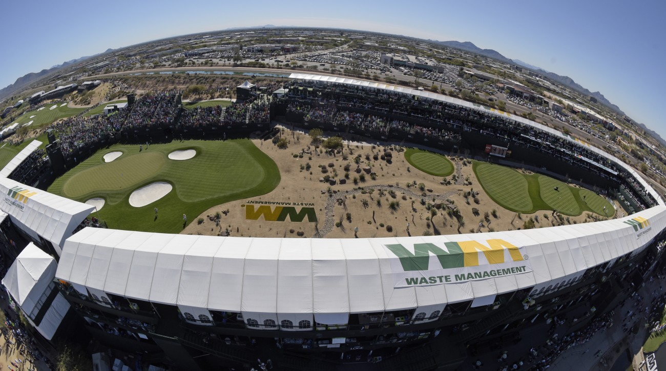 There is nothing else like TPC Scottsdale's par 3 16th during Waste Management Open week.
