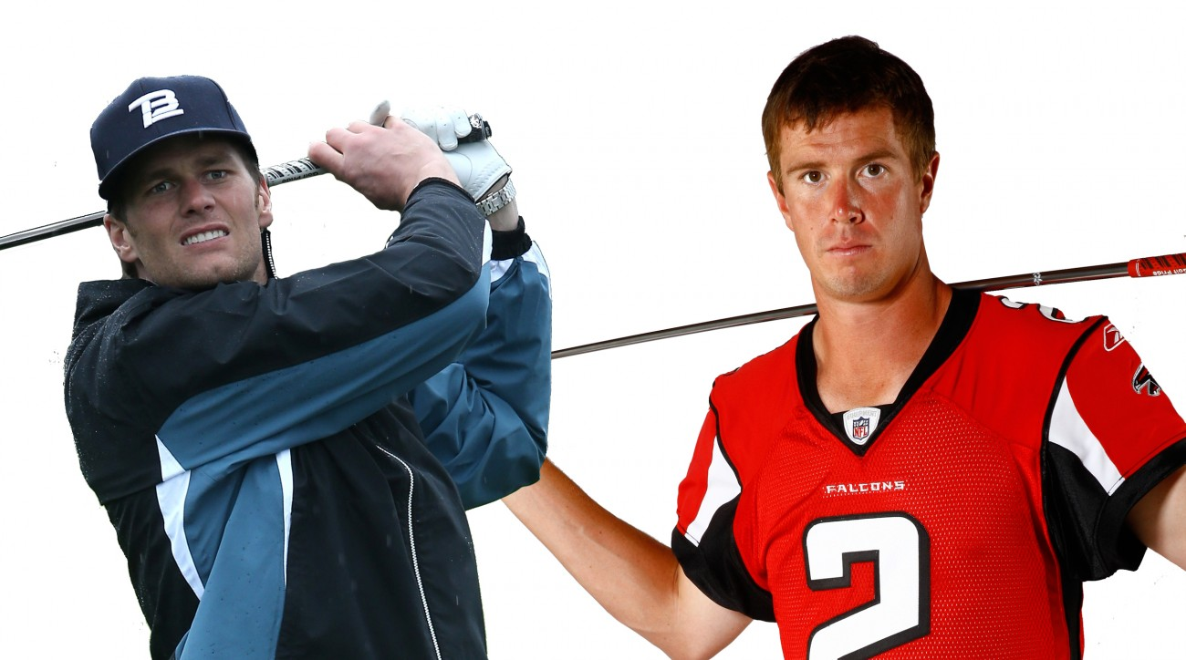 In Super Bowl LI, who wins the golf battle?