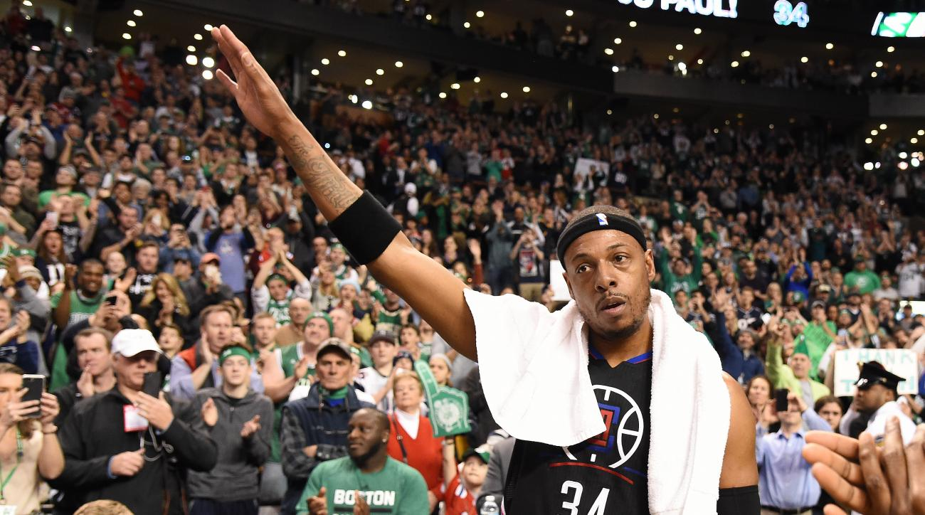 Clippers' Paul Pierce starts in emotional Boston farewell