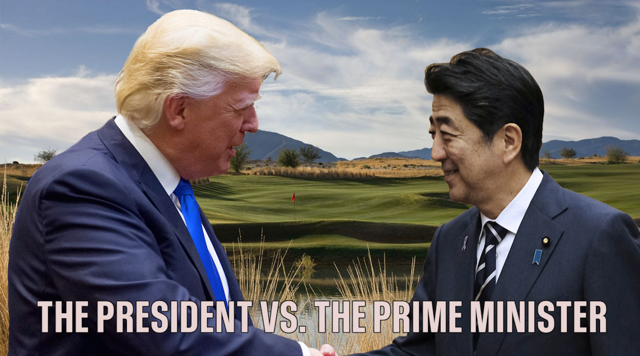 U.S. President Donald Trump and Japanese Prime Minister Shinzo Abe are set to tee it up together at Mar-a-Lago on Saturday.