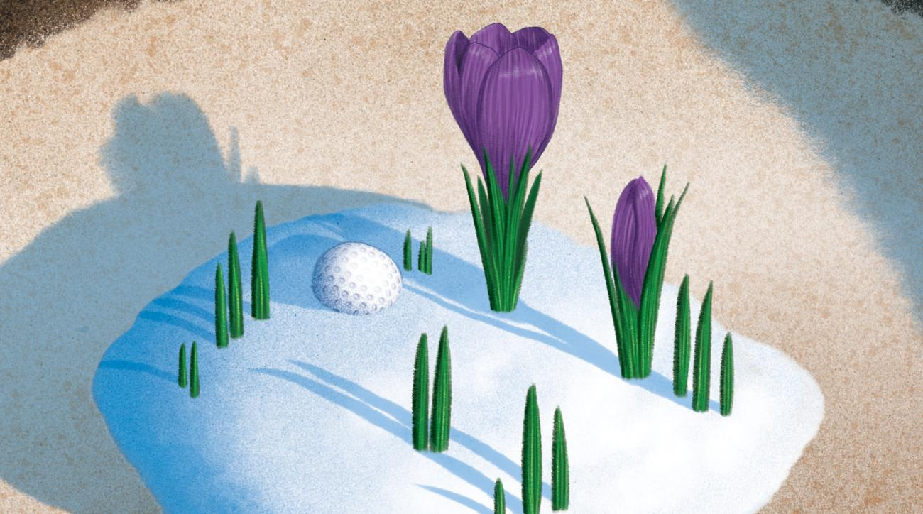 In the months after winter, snowmen can appear on the course in more ways than the scorecard.