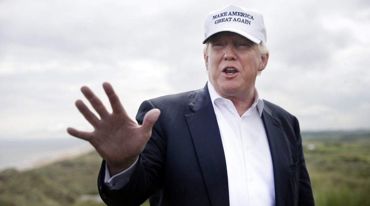 Donald Trump attended an opening ceremony at the refurbished Trump Turnberry while his campaign was in full swing.