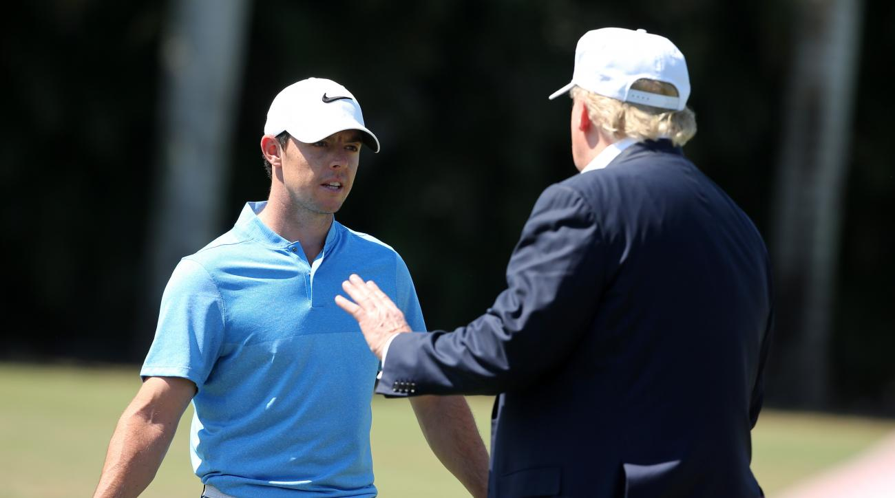 Rory McIlroy faced criticism from fans after teeing it up with Donald Trump.