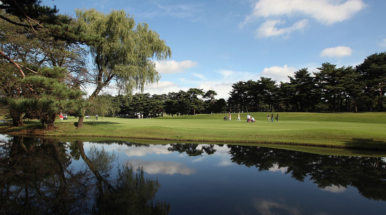 A general view of the 13th fairway at Kasumigaseki Country Club.