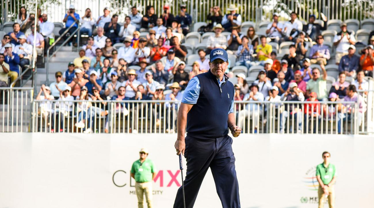Enthusiastic crowds showed up in droves Thursday at the WGC-Mexico Championship to cheer on stars like Phil Mickelson.