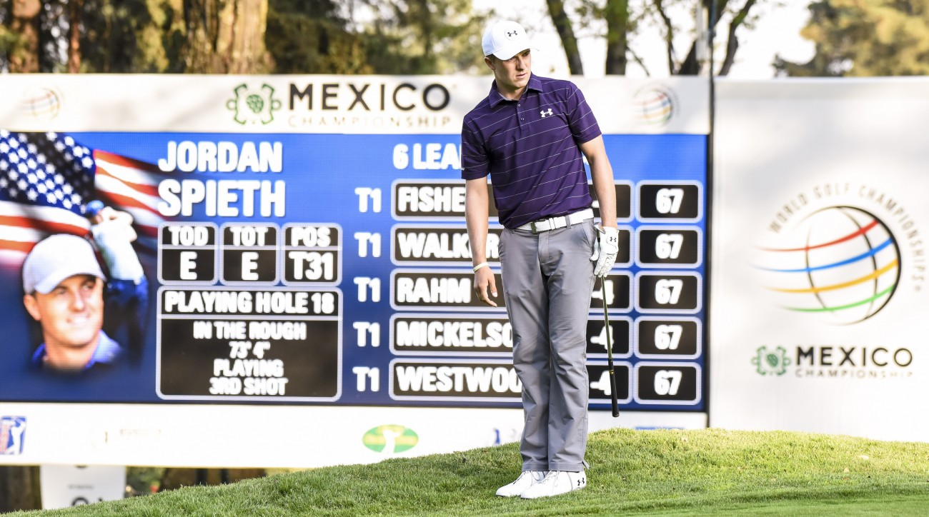 Jordan Spieth shot even par for his first competitive round at the Club de Chapultapec.