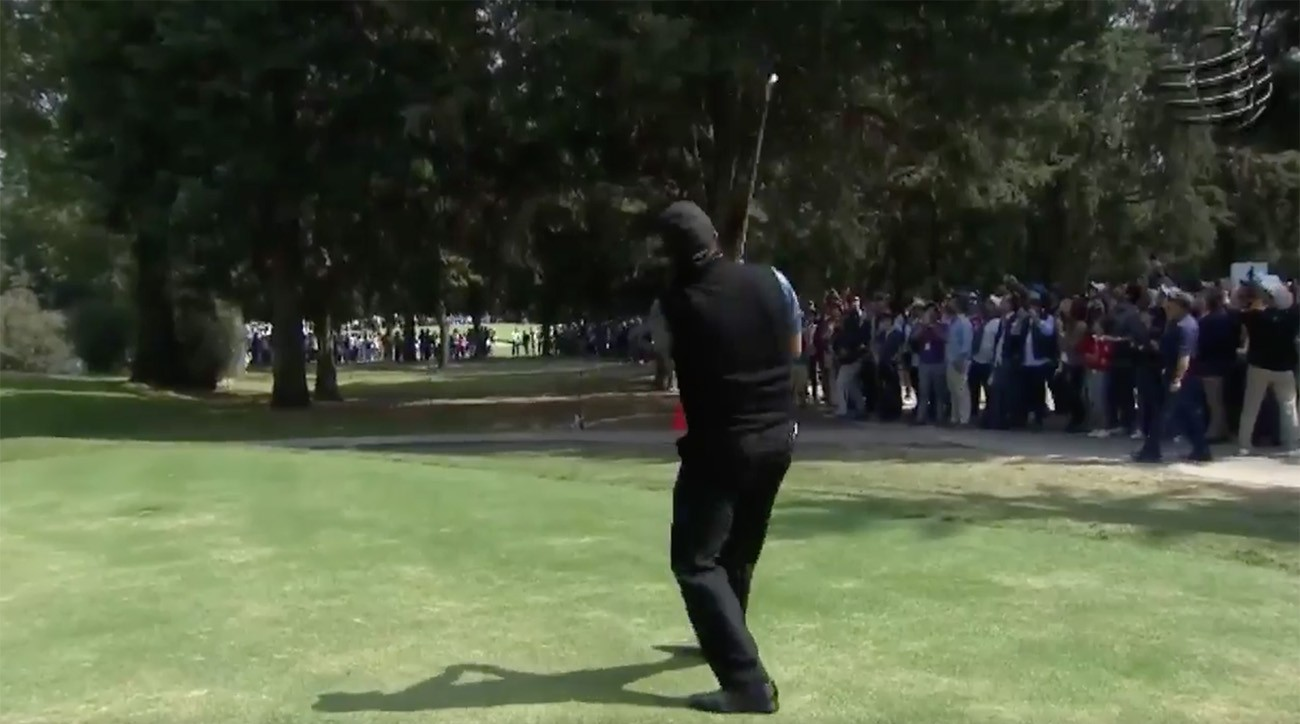 Phil Mickelson had some high-flying thrills for fans during Round 3 of the WGC-Mexico Championship.