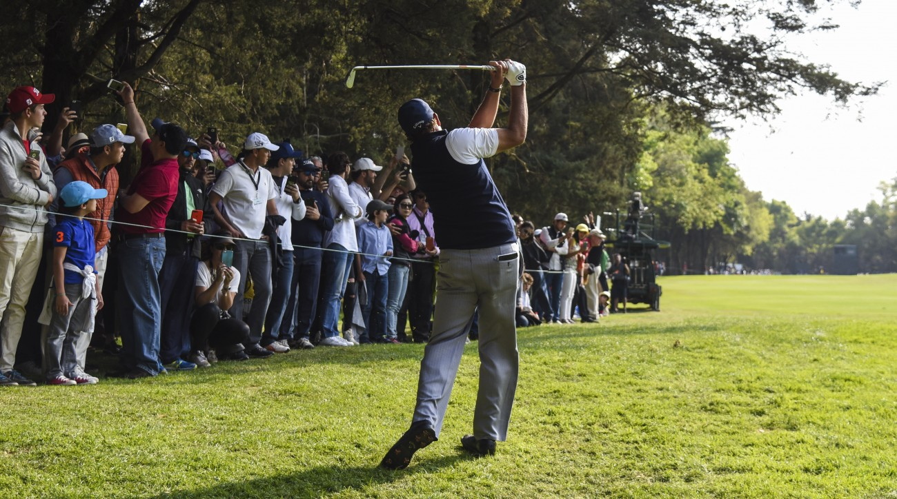 Phil Mickelson was one of several Tour pros who delivered some shotmaking magic to golf fans in Mexico City this weekend.
