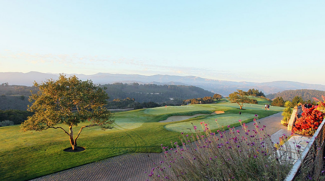 A view of Clint Eastwood's Tehama Golf Club in Carmel, California.
