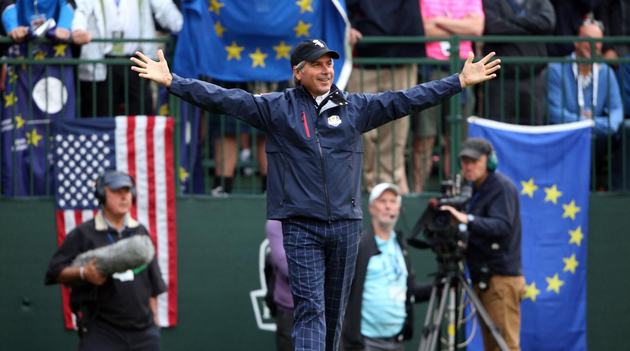 USA team assistant captain Fred Couples walks across the first tee during the Morning Foursome Matches for The 39th Ryder Cup.
