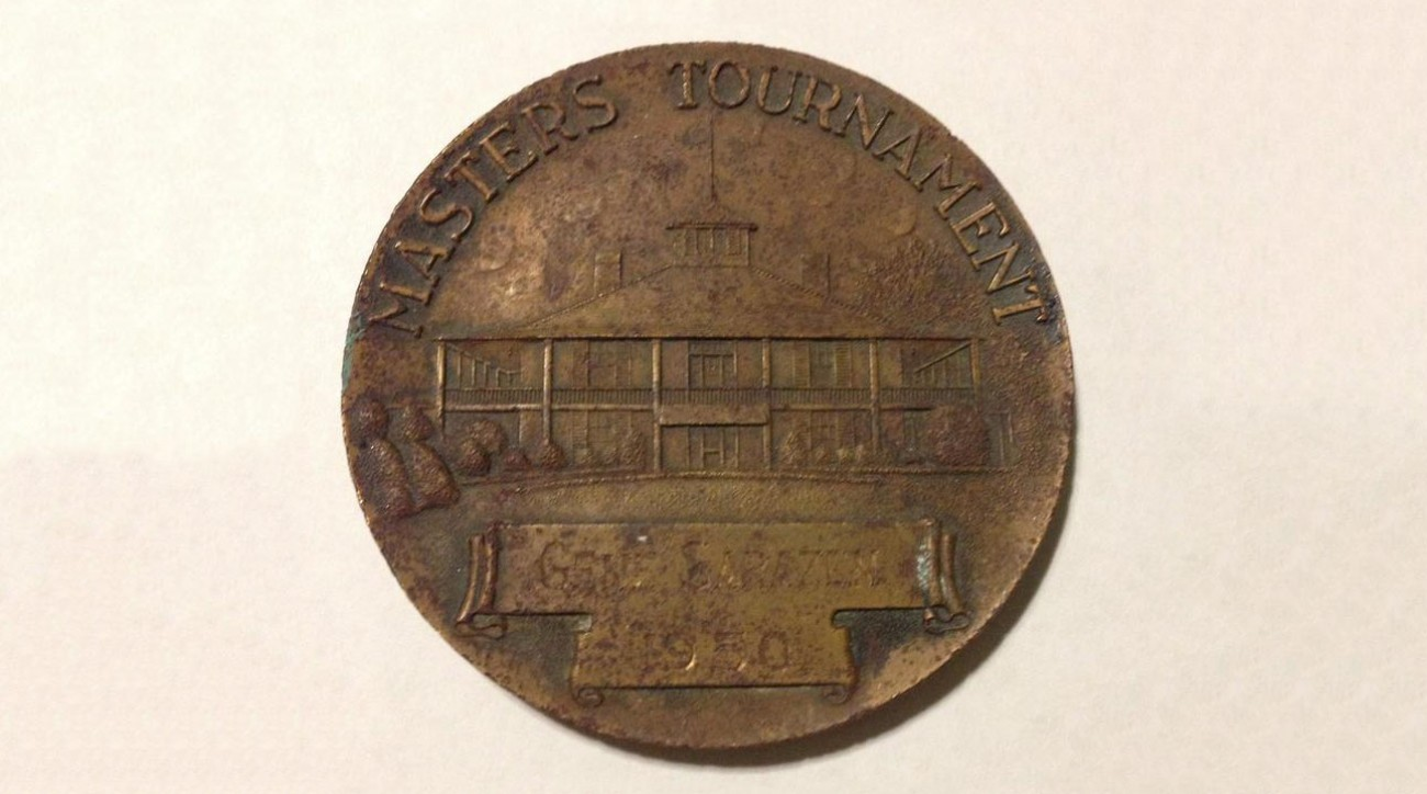 Is this Gene Sarazen's bronze medallion from the 1950 Masters tournament?