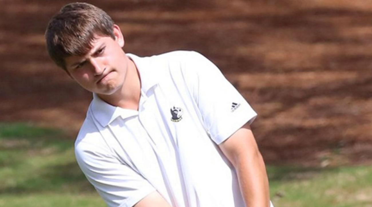 Andrew Novak drained a 100-foot eagle putt in the second round of the NCAA Men's Golf Championship