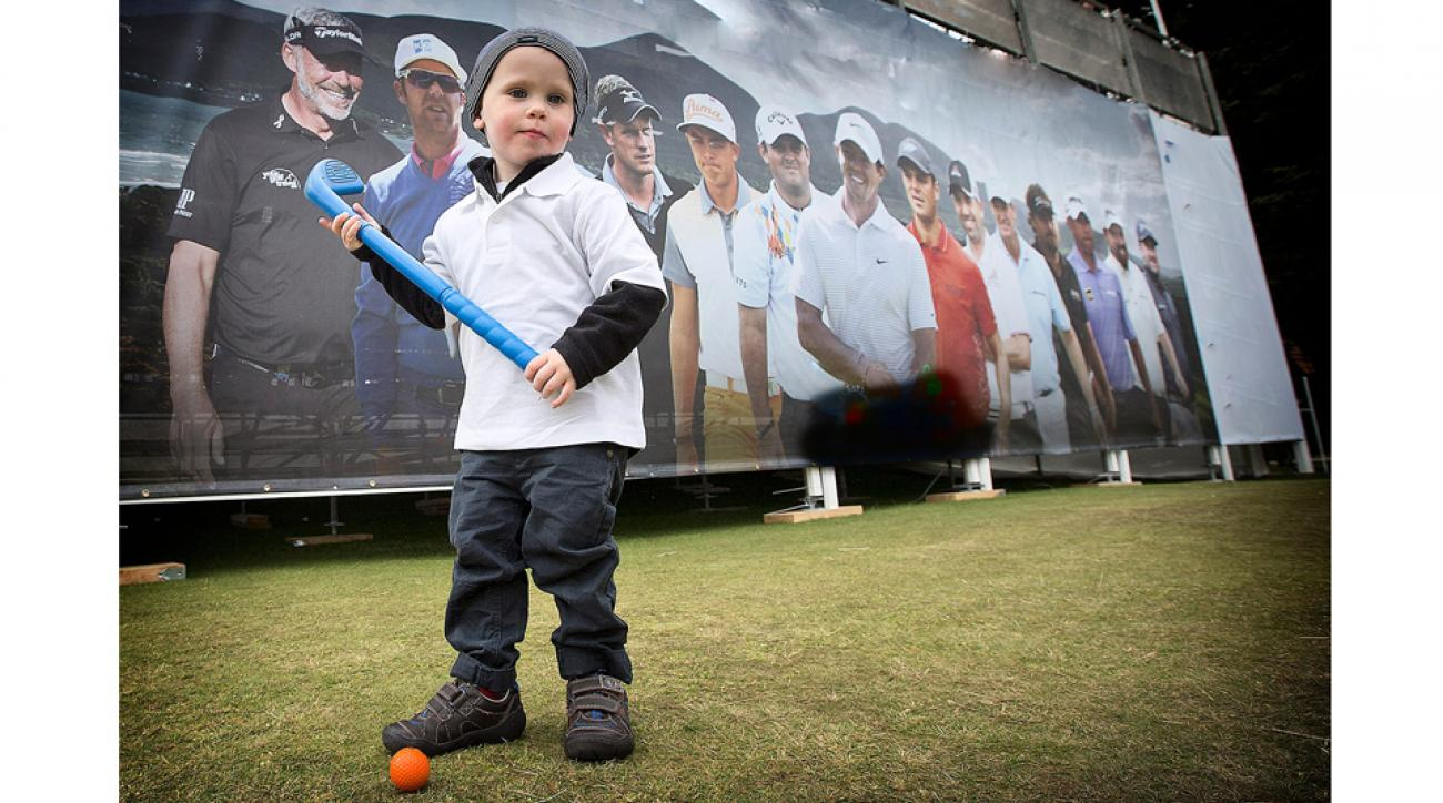 Is Sevie Trowlen, a 3-year-old from Northern Ireland, golf's next big thing? We'll have to wait a long time to find out.