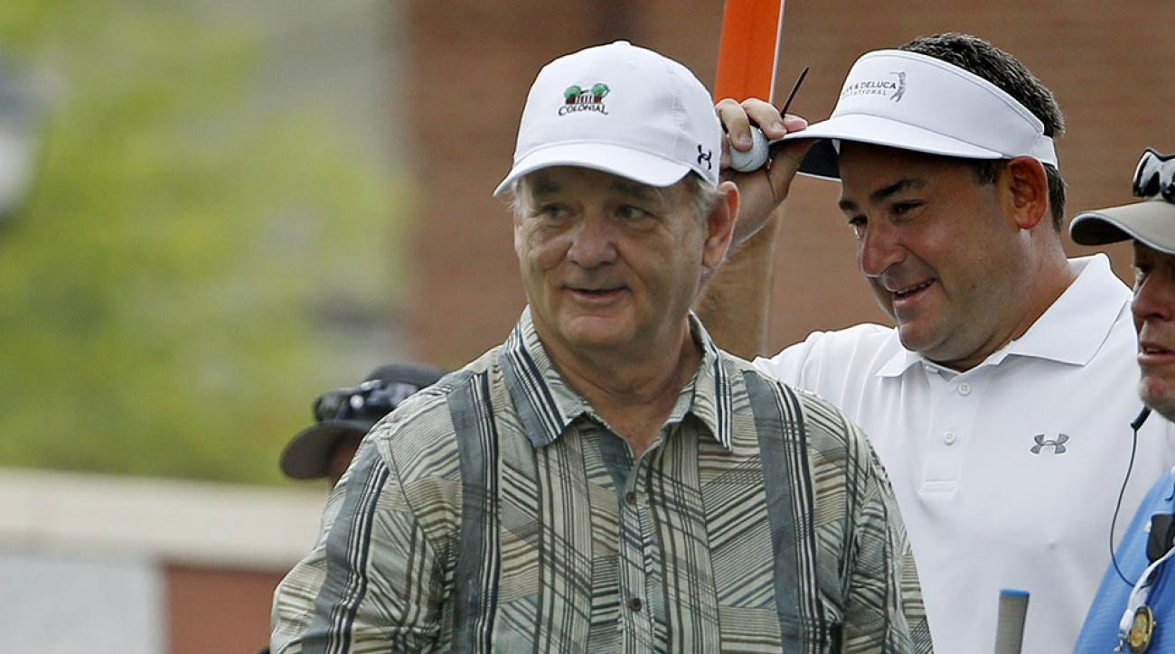 Bill Murray joined Jordan Spieth for a pro-am before the Dean & Deluca Invitational.