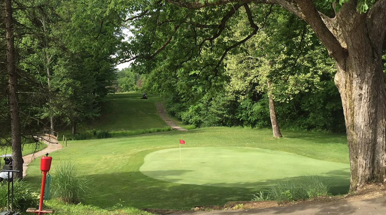 The par-3 18th at the Minerva Lake Golf Club, which will close the Fourth of July this year.