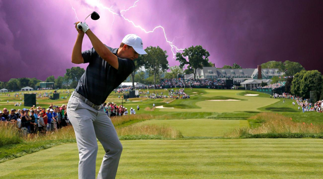 Thunderstorms could become trouble for players at the U.S. Open on Thursday and into Friday.