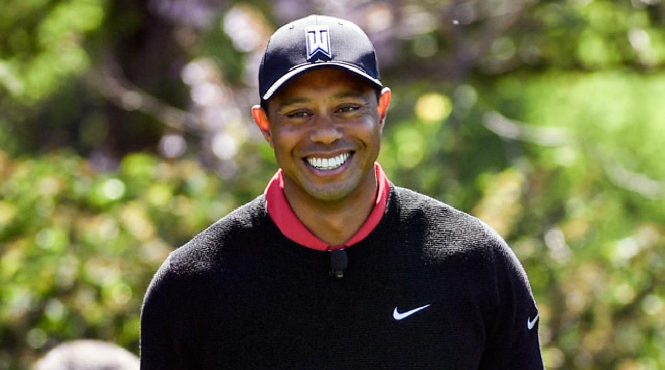 Tiger Woods played a practice round with Derek Jeter and Justin Rose ahead of the Hero World Challenge.