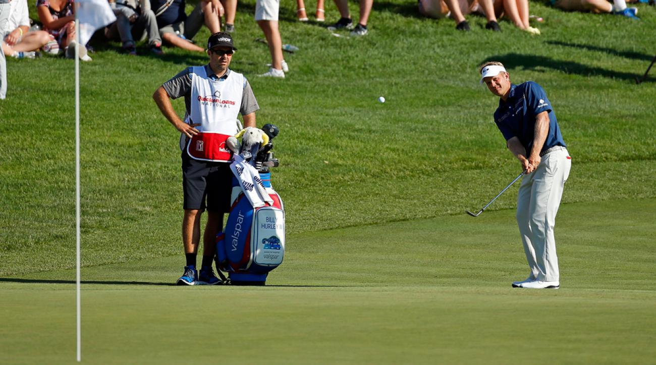Billy Hurley gave himself some breathing room late in his final round thanks to some clutch short game work.