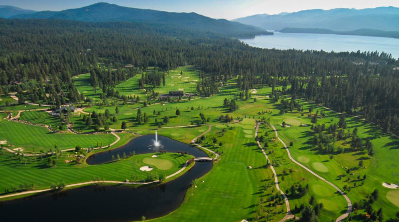 An aerial view of Whitetail Club in Idaho.
