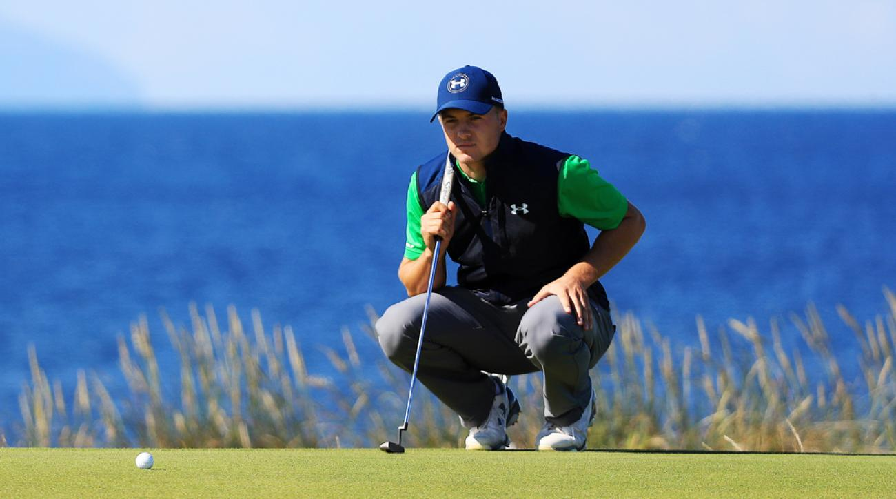 Jordan Spieth just never quite locked into his zone on a day when the golf course at Royal Troon was giving up birdies.