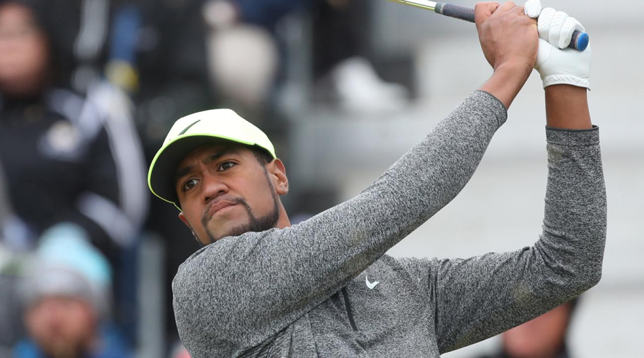 Tony Finau went from thinking he was headed for the history books, to heading for a bogey.
