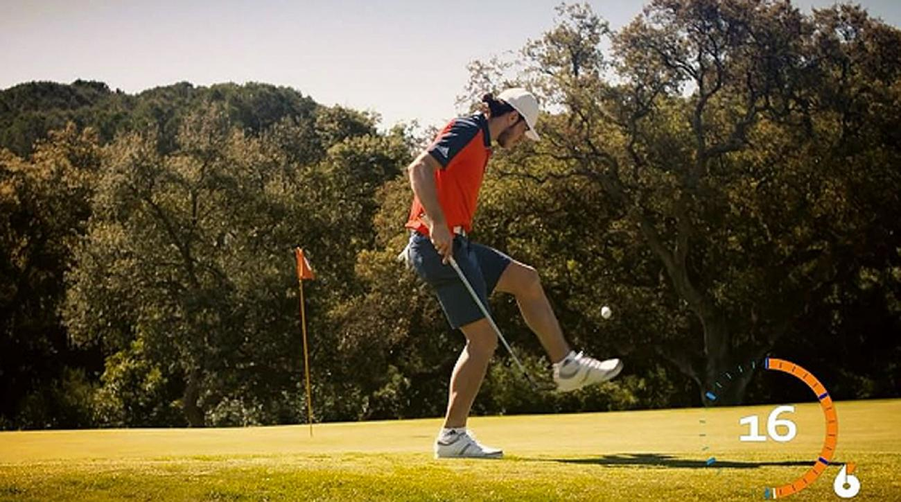 Gareth Bale doesn't care if it's a soccer ball or a golf ball, he will juggle it.