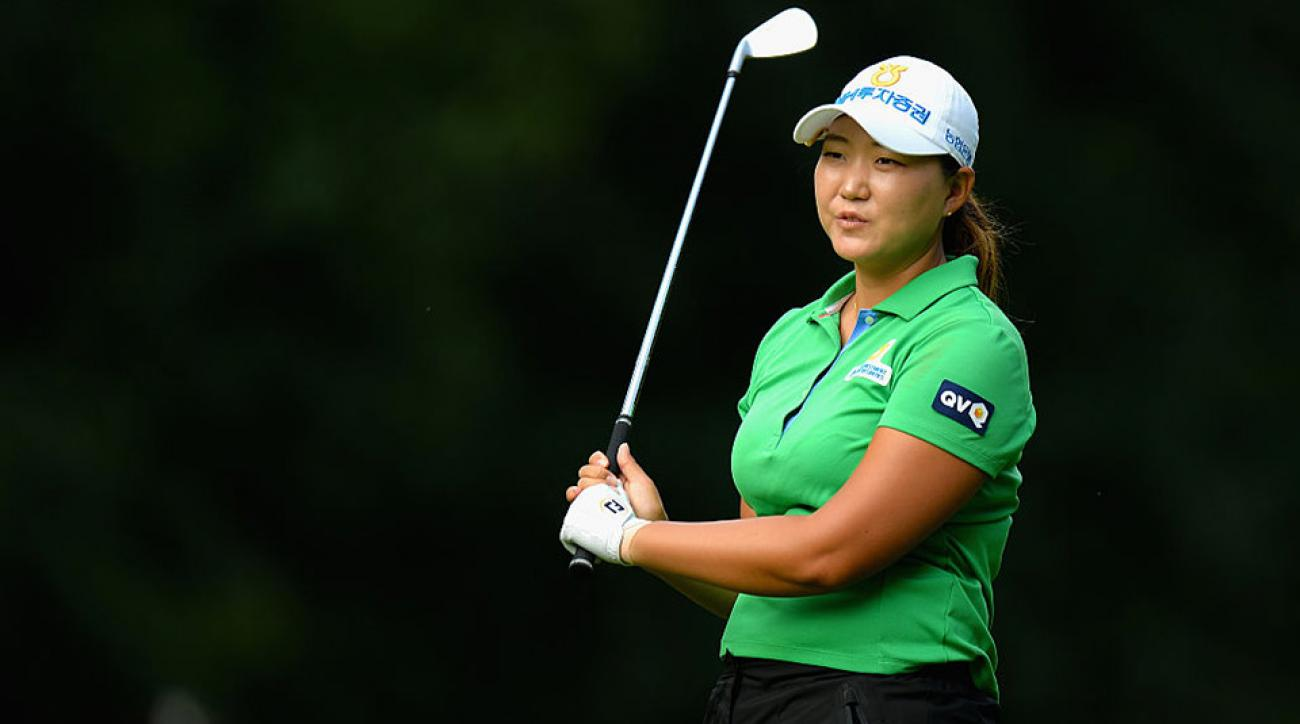 South Korea's Mirim Lee charged up the leaderboard at Woburn during the first round of the Women's British Open.