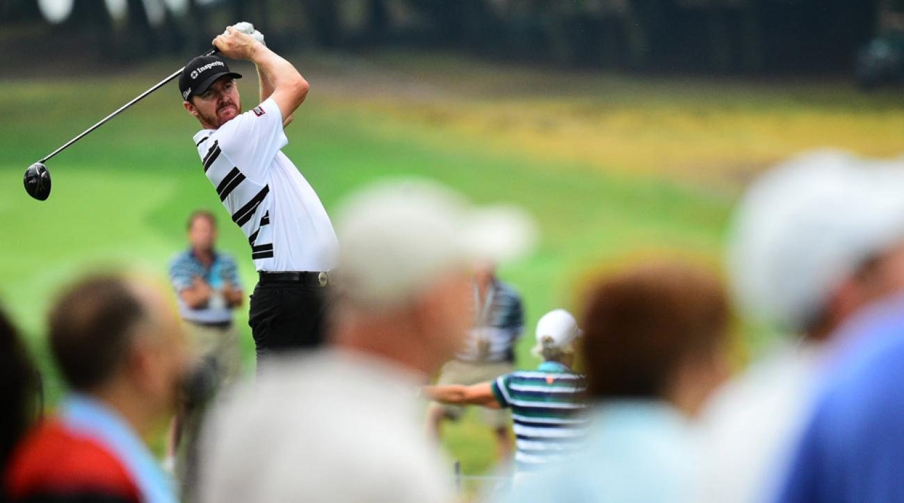 Jimmy Walker grabbed a one-stroke lead after 54 holes of the PGA Championship.