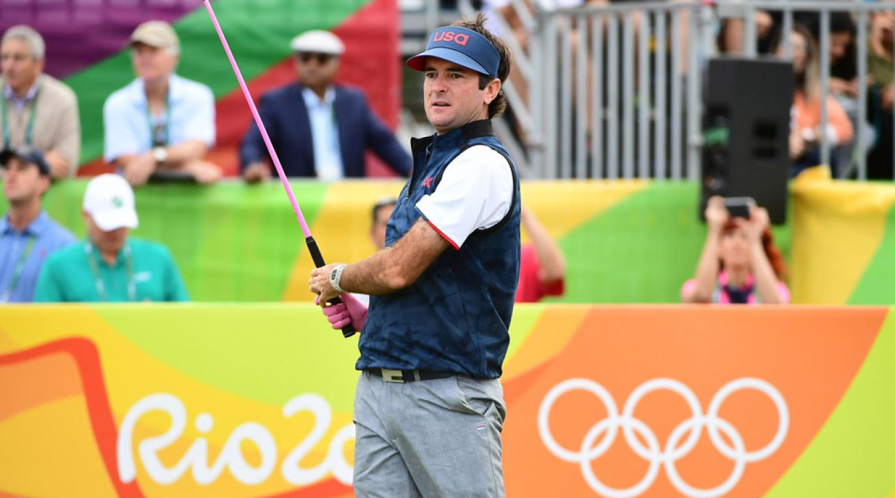 Bubba Watson during the first round of the 2016 Olympics.