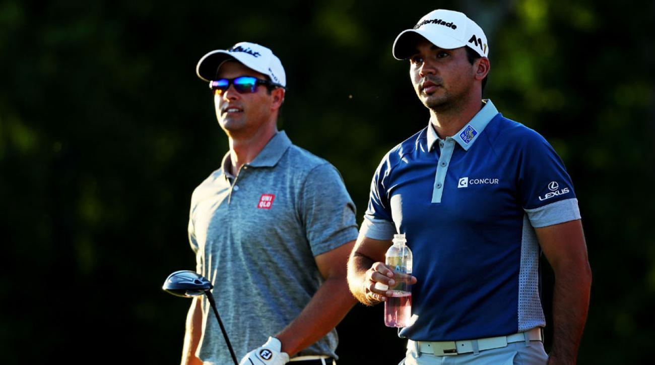 Countryman Adam Scott and Jason Day are the seventh- and first-ranked golfers in the world, respectively.