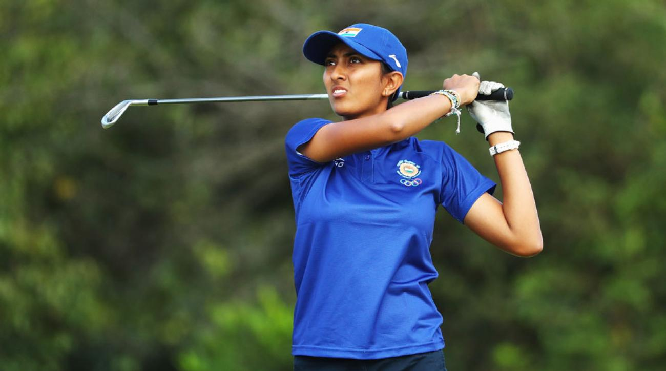 India's Aditi Ashok is in contention at the 2016 Rio Olympics.