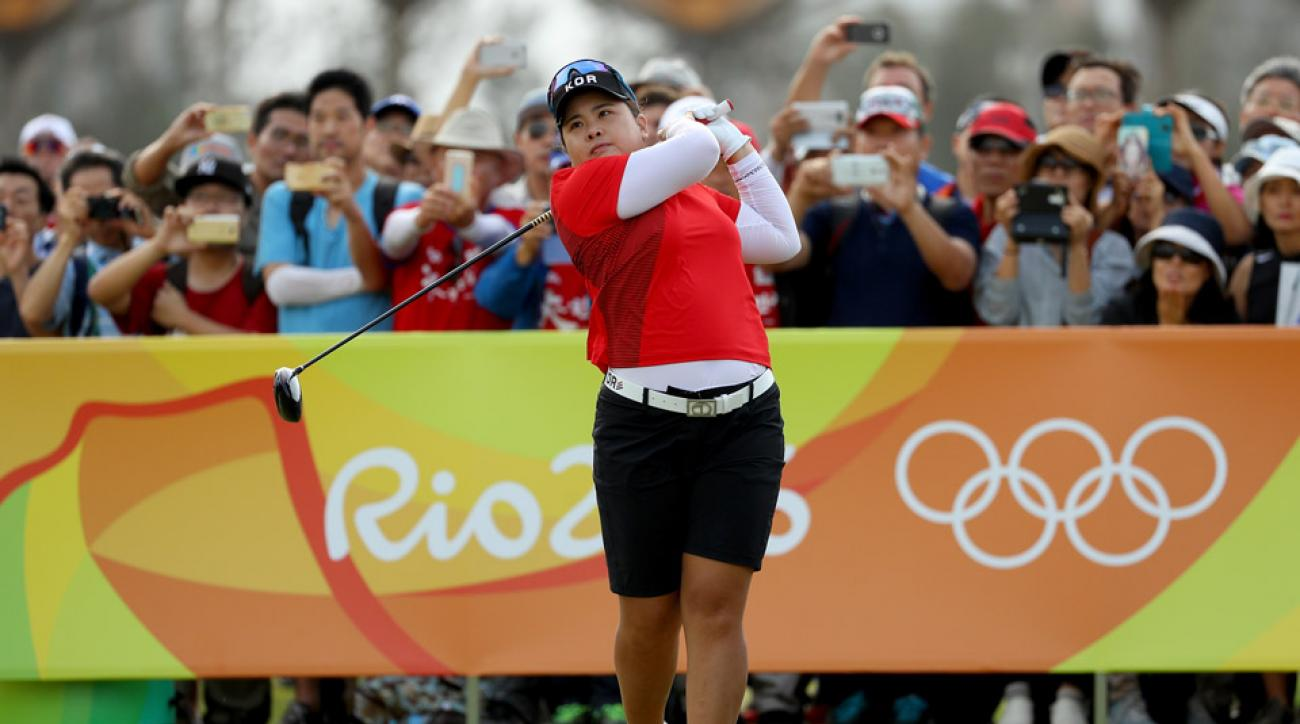 Inbee Park during the final round of the Women's Olympic Golf event in Rio.