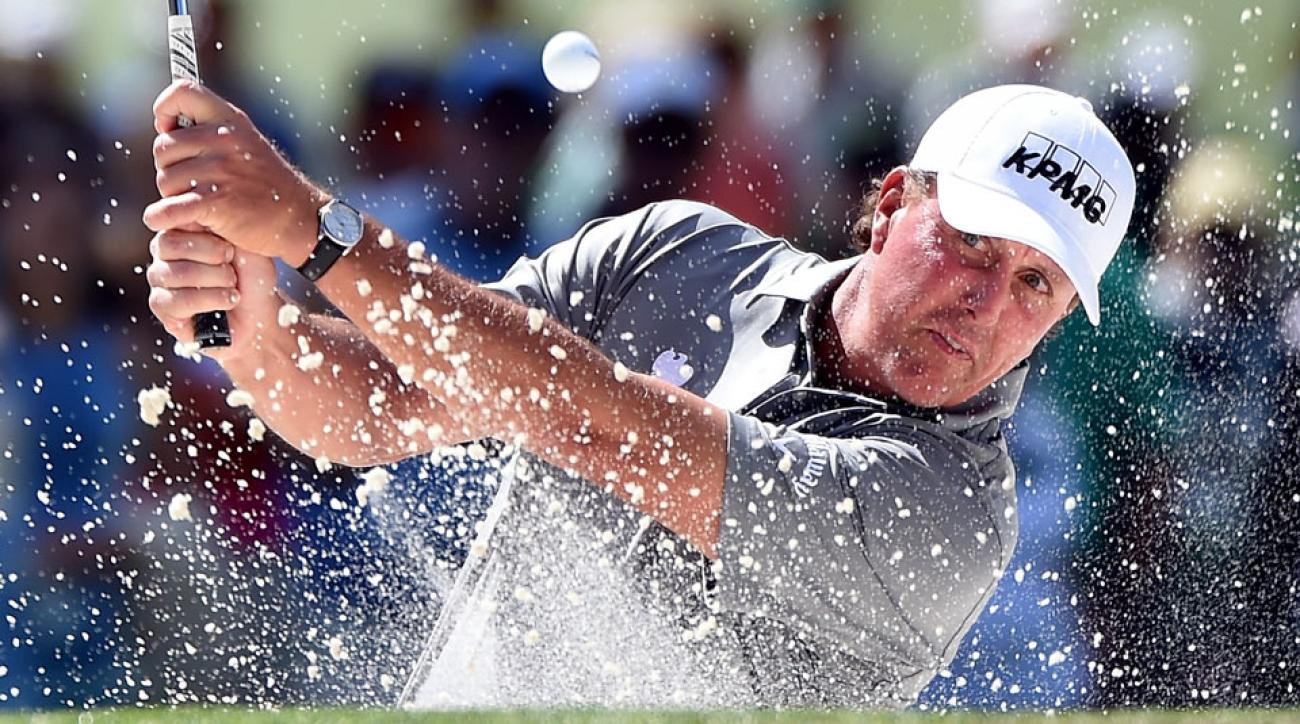 Lefty has attempted 3,174 greenside bunker shots as a Tour professional, converting 1,717 of them (54.1 percent).