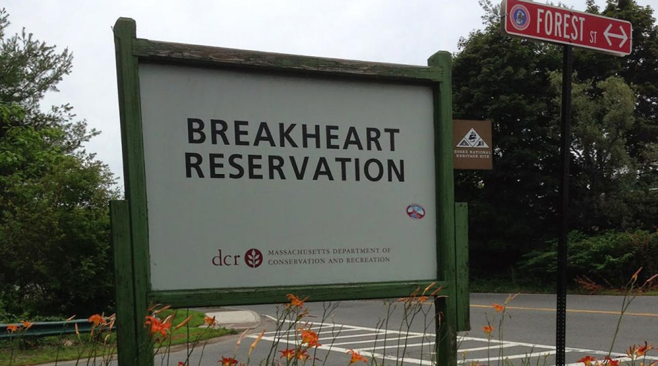 Breakheart Reservation, the scene of the reported stabbing, is a state park about 30 minutes north of Boston.