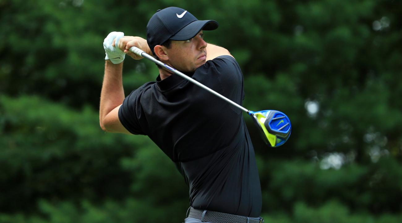 Rory McIlroy, after struggling through his first three holes, has shot eight under over the last 33 holes.
