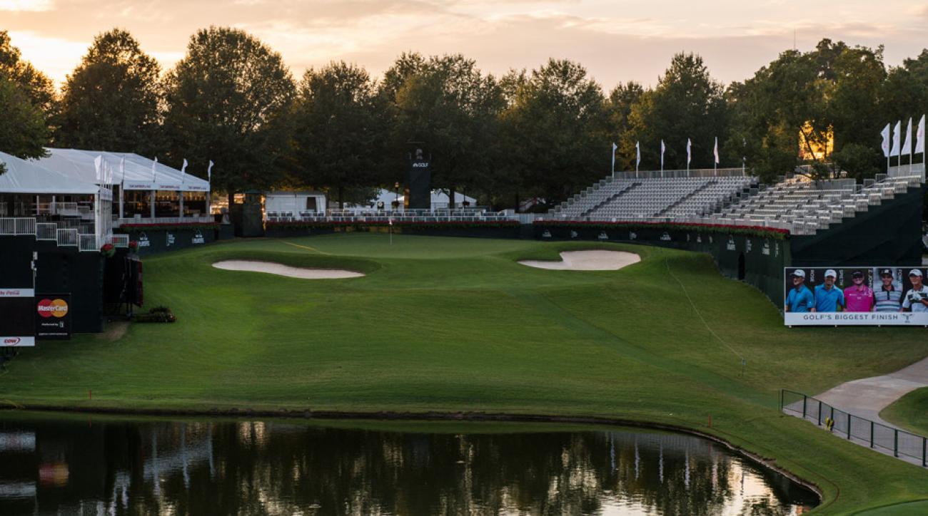 The par-3 18th at East Lake Golf Club.