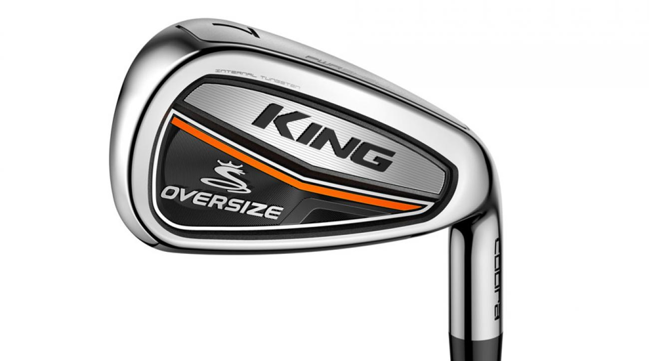 The brand-new Cobra King Oversize irons.