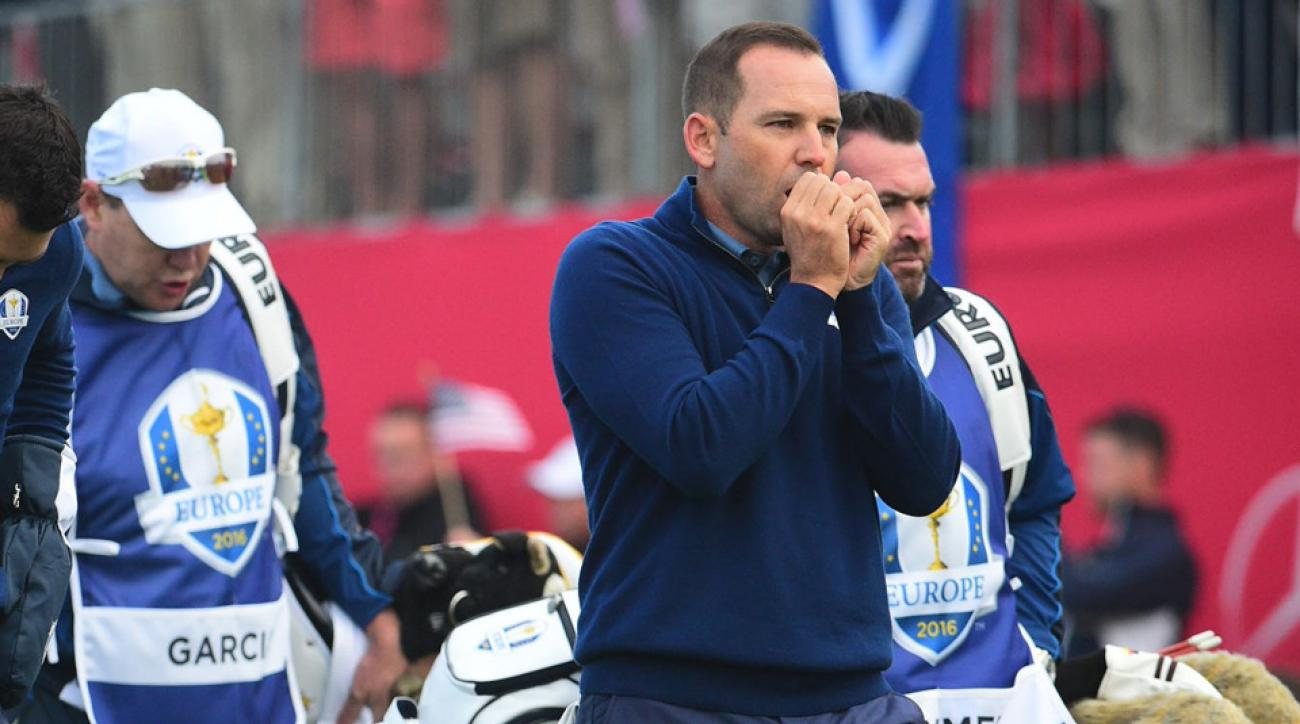 Sergio Garcia and Martin Kaymer were paired in foursomes agains Zach Johnson and Jimmy Walker