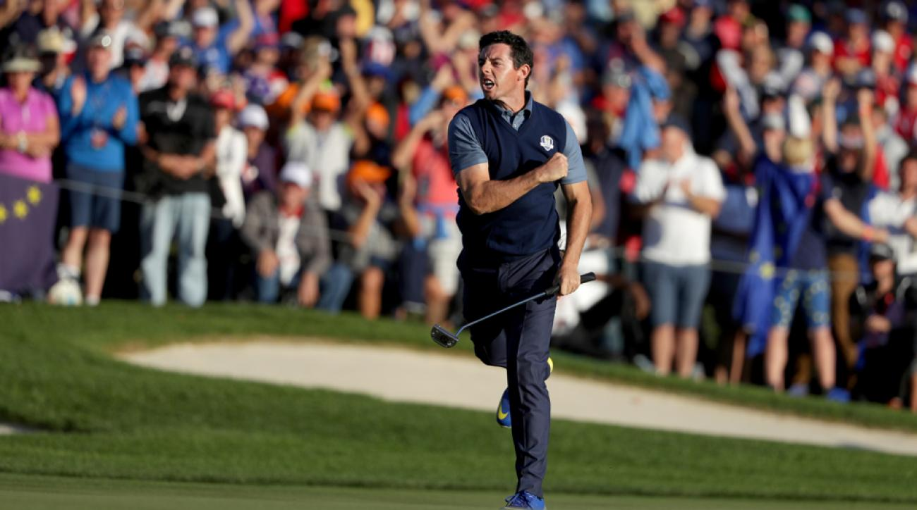 Rory McIlroy made an eagle on the 16th hole to win the match for Europe.
