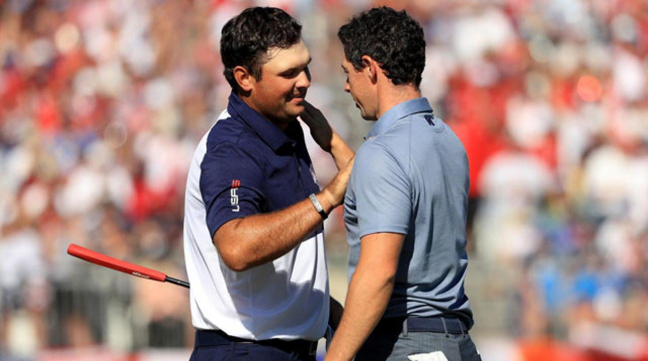 Patrick Reed defeated Rory McIlroy in an epic Sunday duel to earn a crucial point for the U.S. team.