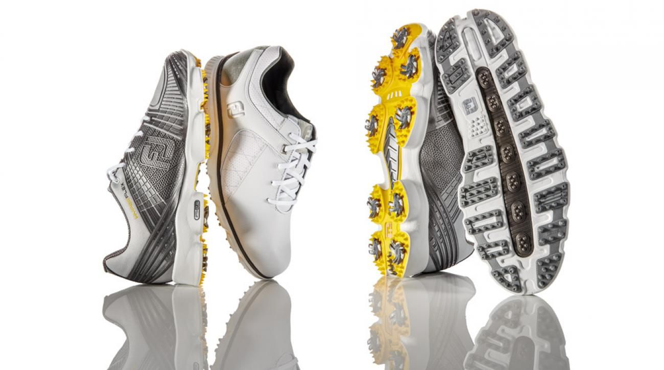 The new FootJoy Hyperflex II and Pro/SL golf shoes.
