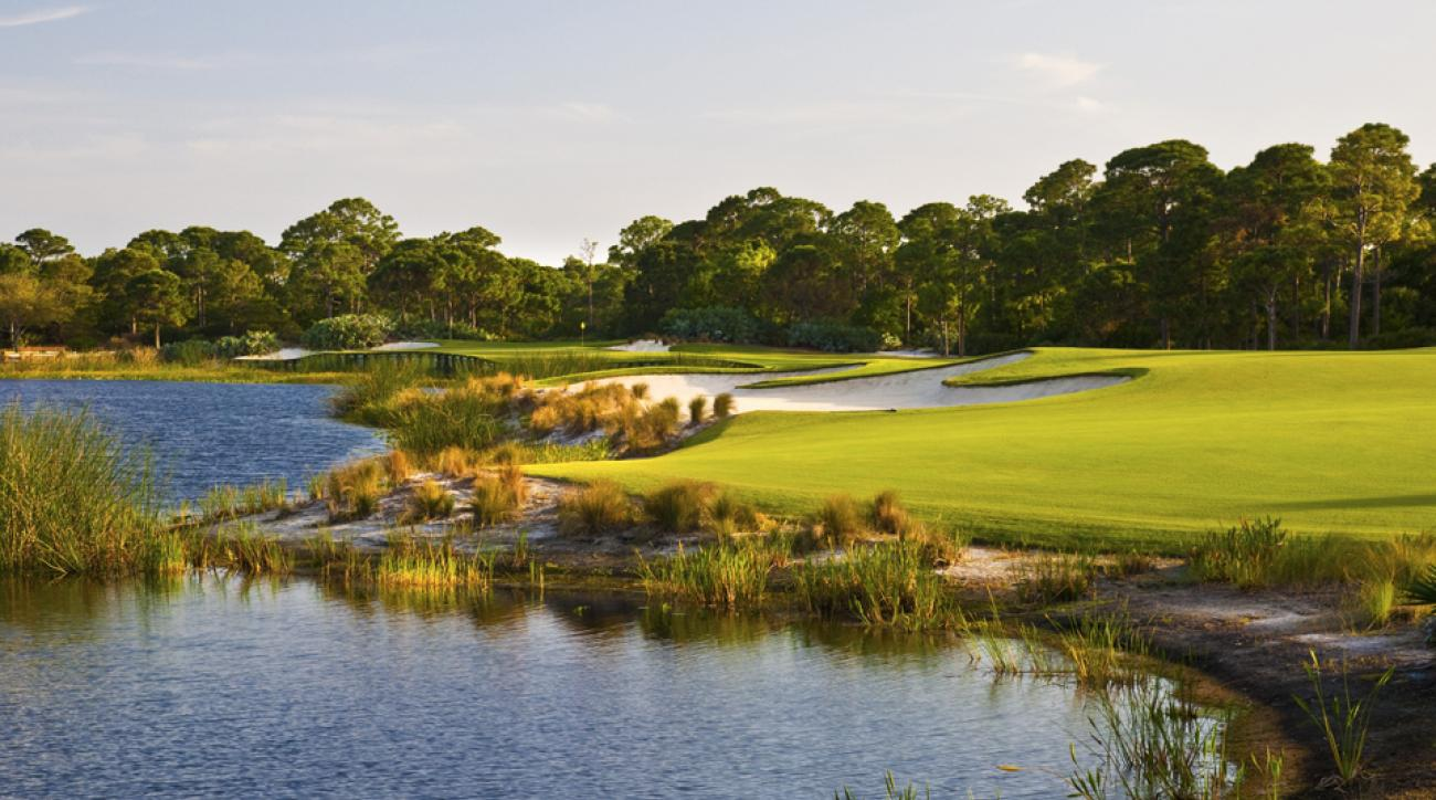 The 3rd hole at The Bear's Club in Jupiter, Florida.