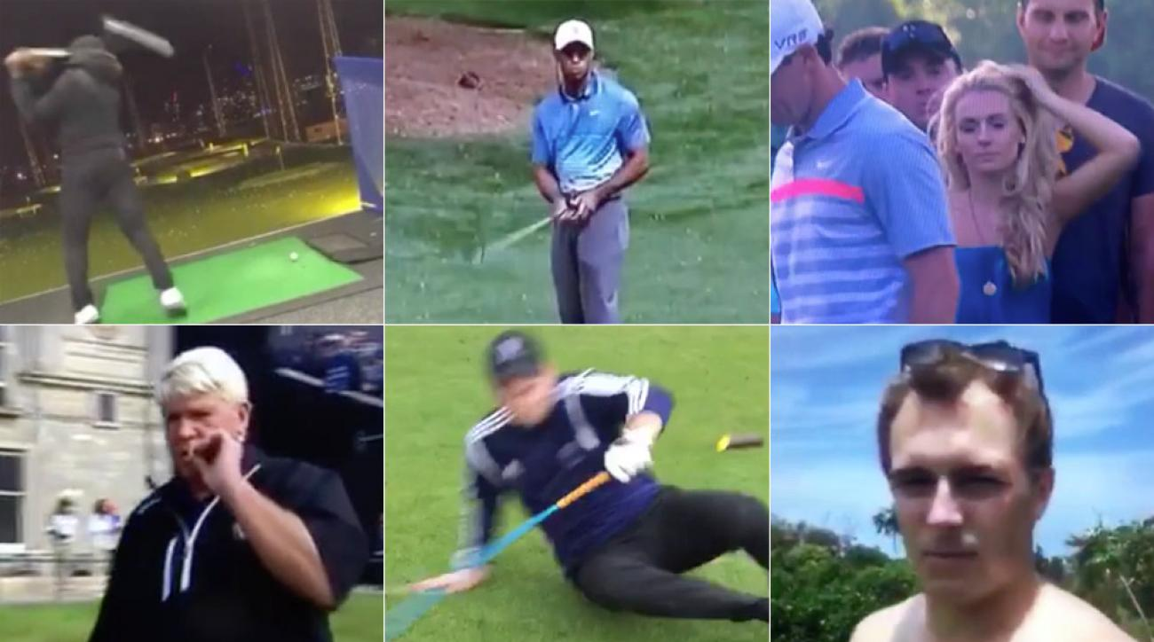 Vine captured several epic moments that happened on the golf course.