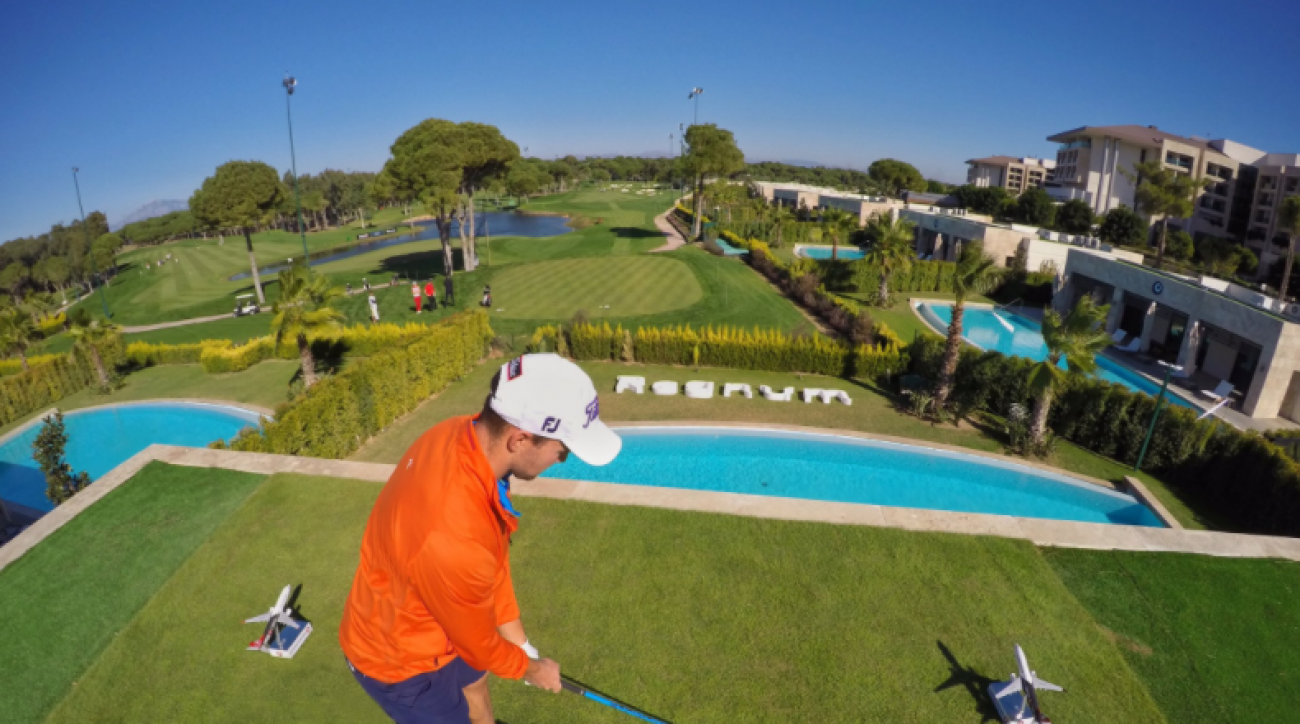 The par-4 16th at Regnum Carya Resort & Spa will have an interesting tee box this week for the Turkish Airlines Open.