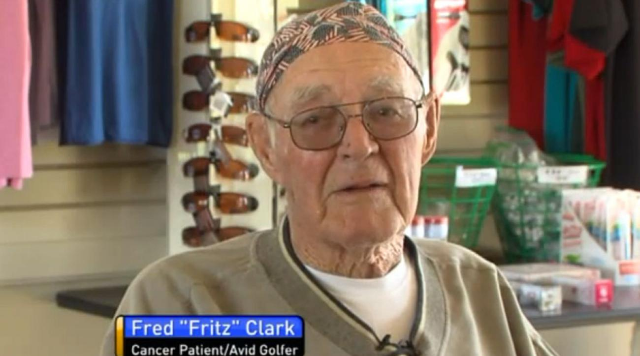 92-year-old Fred Clark played his last round of golf with nurses by his side.