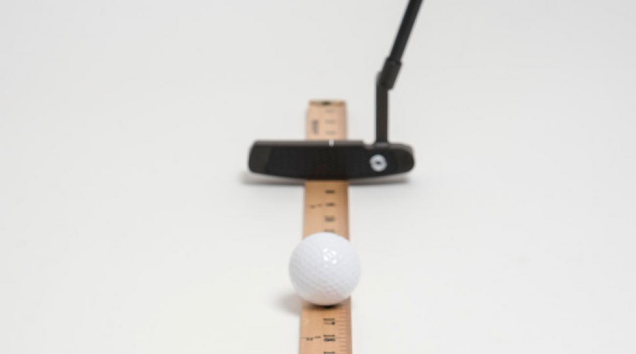 When you can roll it the length of a yardstick without your ball falling off track, your stroke measures up to the very best.