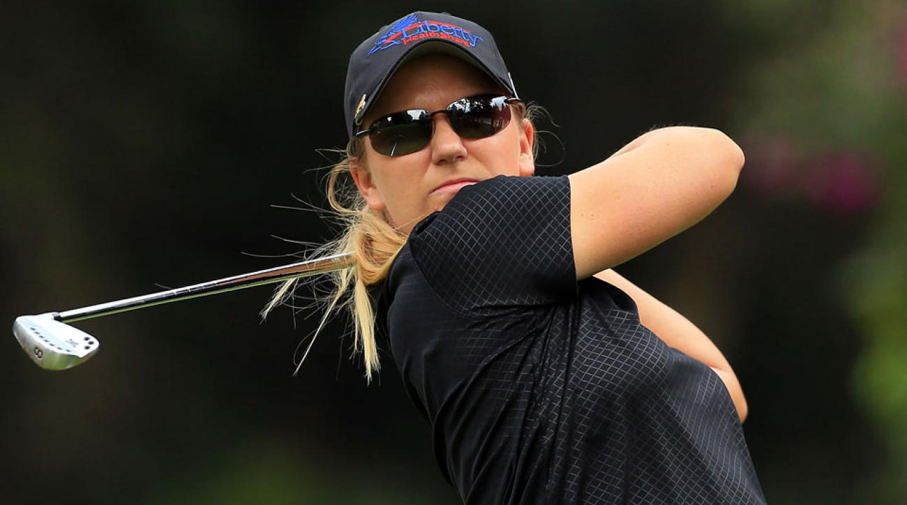 Austin Ernst grabbed her first LPGA Tour title at the Portland Classic in 2014.