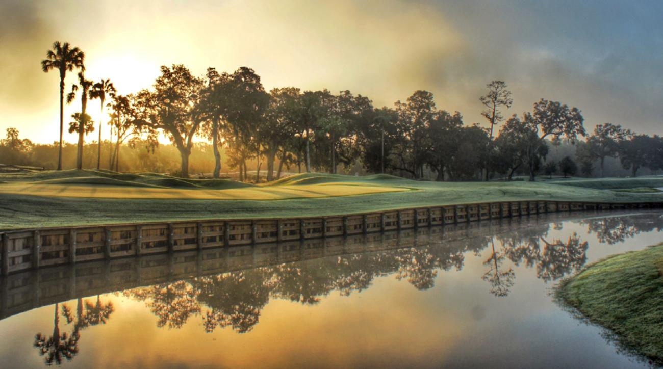 The new-look 12th hole at TPC Sawgrass' Stadium Course.