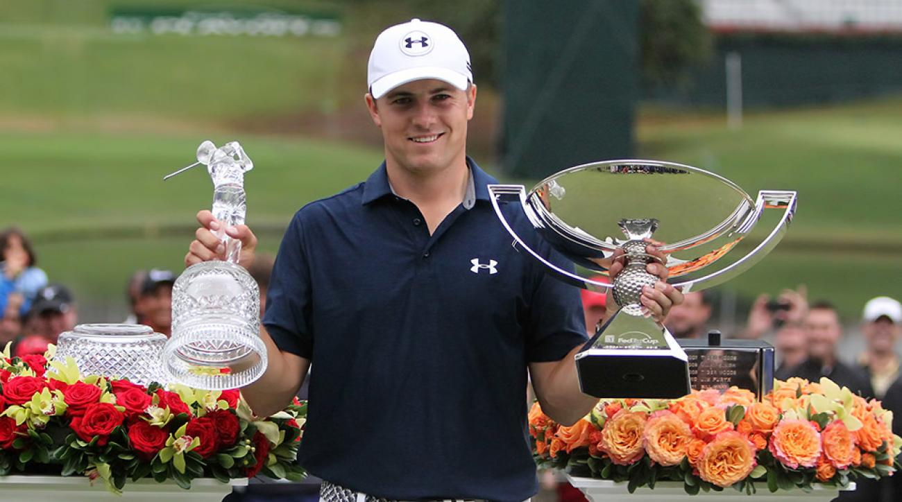 Jordan Spieth won the 2015 Tour Championship and the 2015 Fedex Cup, and the $10 million bonus that came with it.