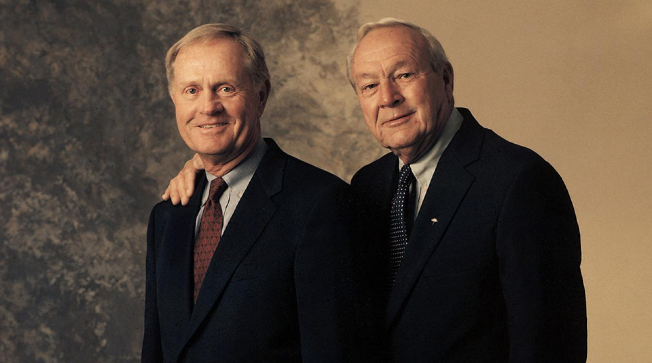 Golf's Great Rivalries: a portrait of Jack Nicklaus and Arnold Palmer, taken in 2003.